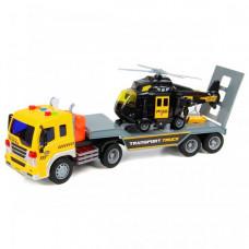 Drift Автовоз с вертолетом Transport Truck 1:16