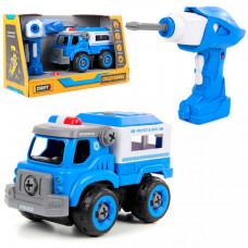 Drift Конструктор-скрутка на радиоуправлении Полицейская машина со звуком