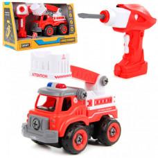 Drift Конструктор-скрутка на радиоуправлении Пожарная бригада со звуком