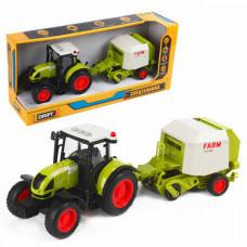 Drift Трактор с пресс-подборщиком для сена Farmland 1:16