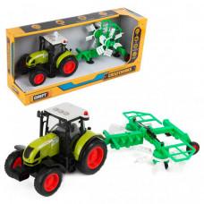 Drift Трактор с валкообразователем Farmland 1:16