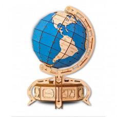 Eco Wood Art 3D EWA Глобус голубой