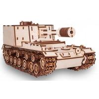 Eco Wood Art Конструктор 3D EWA Танк САУ-212