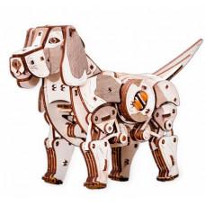 Eco Wood Art Конструктор деревянный 3D Механический щенок Puppy
