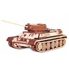 Eco Wood Art Механическая модель Танк Т-34