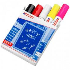 Edding Набор маркеров меловых на водной основе 4090 4-15 мм 5 цветов