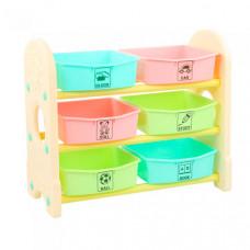 Edu-Play Стеллаж для игрушек с ящиками 3 полки 76х36х65.5 см