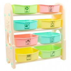 Edu-Play Стеллаж для игрушек с ящиками 4 полки 76х36х80.5 см