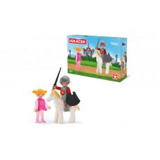 Efko Игровой набор Рыцарь на белом коне и принцесса