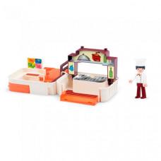Efko Раскладывающийся игровой набор Кухня с аксессуарами и фигуркой повара