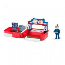 Efko Раскладывающийся игровой набор Пожарная станция с аксессуарами и фигуркой пожарного