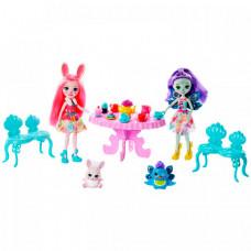 Enchantimals Игровой набор Чаепитие Пэттер Павлины и Бри Кроли