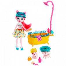 Enchantimals Игровой набор кукла и питомец с аксессуарами GJX35
