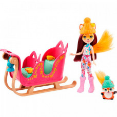 Enchantimals Игровой набор Рождественские сани с Фелисити Лис