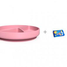 Everyday Baby Силиконовая тарелка на присоске 4 отсека и Мыло Свобода Тик-так 150 г
