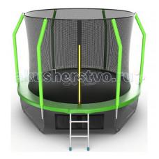 EVO Jump Батут Cosmo с внутренней сеткой и лестницей 10ft + нижняя сеть