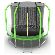 EVO Jump Батут Cosmo с внутренней сеткой и лестницей 8ft
