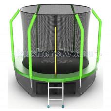 EVO Jump Батут Cosmo с внутренней сеткой и лестницей 8ft + нижняя сеть
