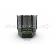 EVO Jump Батут External с внешней сеткой и лестницей 6ft + нижняя сеть