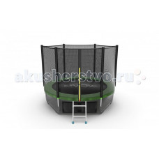 EVO Jump Батут External с внешней сеткой и лестницей 8ft + нижняя сеть