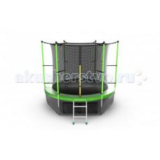 EVO Jump Батут Internalс внутренней сеткой и лестницей 8ft + нижняя сеть