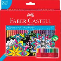 Faber-Castell Цветные карандаши Замок в картонной коробке 60 шт. точилка