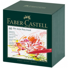 Faber-Castell Набор капиллярных ручек Pitt Artist Pen Brush ассорти 60 шт.