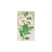 Фрея Кристальная мозаика Белая ромнея 35х60 см
