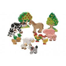 Goki Фигурки Животные фермы, деревья