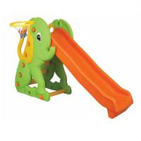 Детская горка-комплекс с баскетбольным кольцом Слон