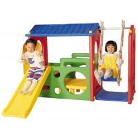 Haenim Toy Игровой комплекс Дом с горкой и качели