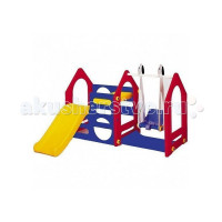 Haenim Toy Игровой комплекс Дом с горкой и качелями