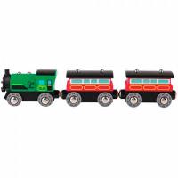 Hape Игровой набор Поезд с пассажирскими вагонами