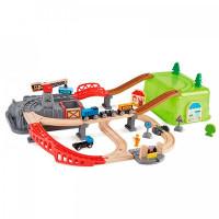 Hape Игровой набор Железная дорога Строительный комплекс