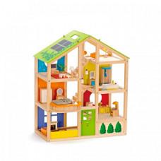 Hape Кукольный дом для мини-кукол с мебелью (33 предмета)
