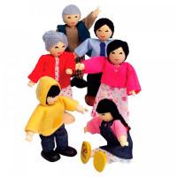 Hape Набор мини-кукол Счастливая азиатская семья