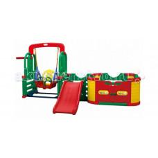 Happy Box Игровая зона Smart Park горка, качели, баскетбольное кольцо