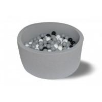 Hotenok Сухой бассейн 200 оттенков серого 40 см с комплектом шаров 200 шт.