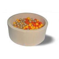 Hotenok Сухой бассейн Бежевое золото 40 см с комплектом шаров 200 шт.