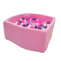 Hotenok Сухой Бассейн Фиолетовые пузыри Квадро 40 см с комплектом шаров 200 шт.