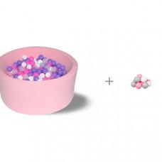 Hotenok Сухой бассейн Фиолетовые пузыри с дополнительным набором шариков Розовый бриз