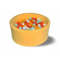 Hotenok Сухой бассейн Грейпфрут 40 см с комплектом шаров 200 шт.