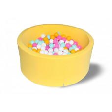 Hotenok Сухой бассейн Лимонная жвачка 40 см с комплектом шаров 200 шт.