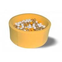 Hotenok Сухой бассейн Премиум золото 40 см с комплектом шаров 200 шт.