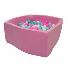 Hotenok Сухой Бассейн Розовая мечта Квадро 40 см с комплектом шаров 200 шт.