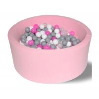 Hotenok Сухой Бассейн Розовые пузыри 33 см с комплектом шаров 200 шт.
