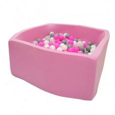 Hotenok Сухой Бассейн Розовые пузыри Квадро 40 см с комплектом шаров 200 шт.