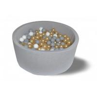 Hotenok Сухой бассейн Серое золото 40 см с комплектом шаров 200 шт.
