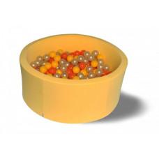 Hotenok Сухой бассейн Желтое золото 40 см с комплектом шаров 200 шт.