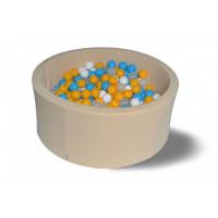 Hotenok Сухой бассейн Жемчужная дискотека 40 см с комплектом шаров 200 шт.